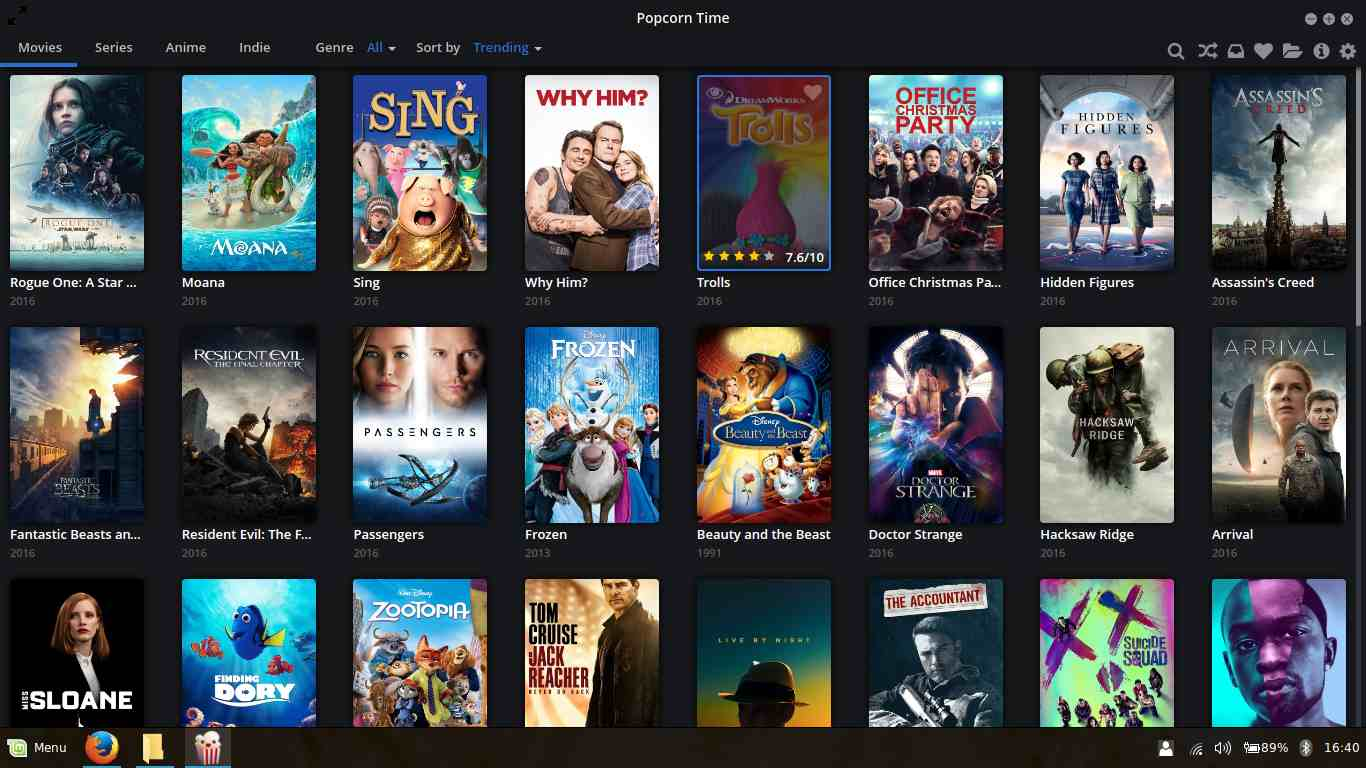 choose from thousands of movies and shows on popcorn