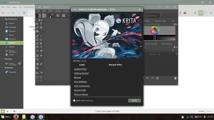 use krita in linux mint